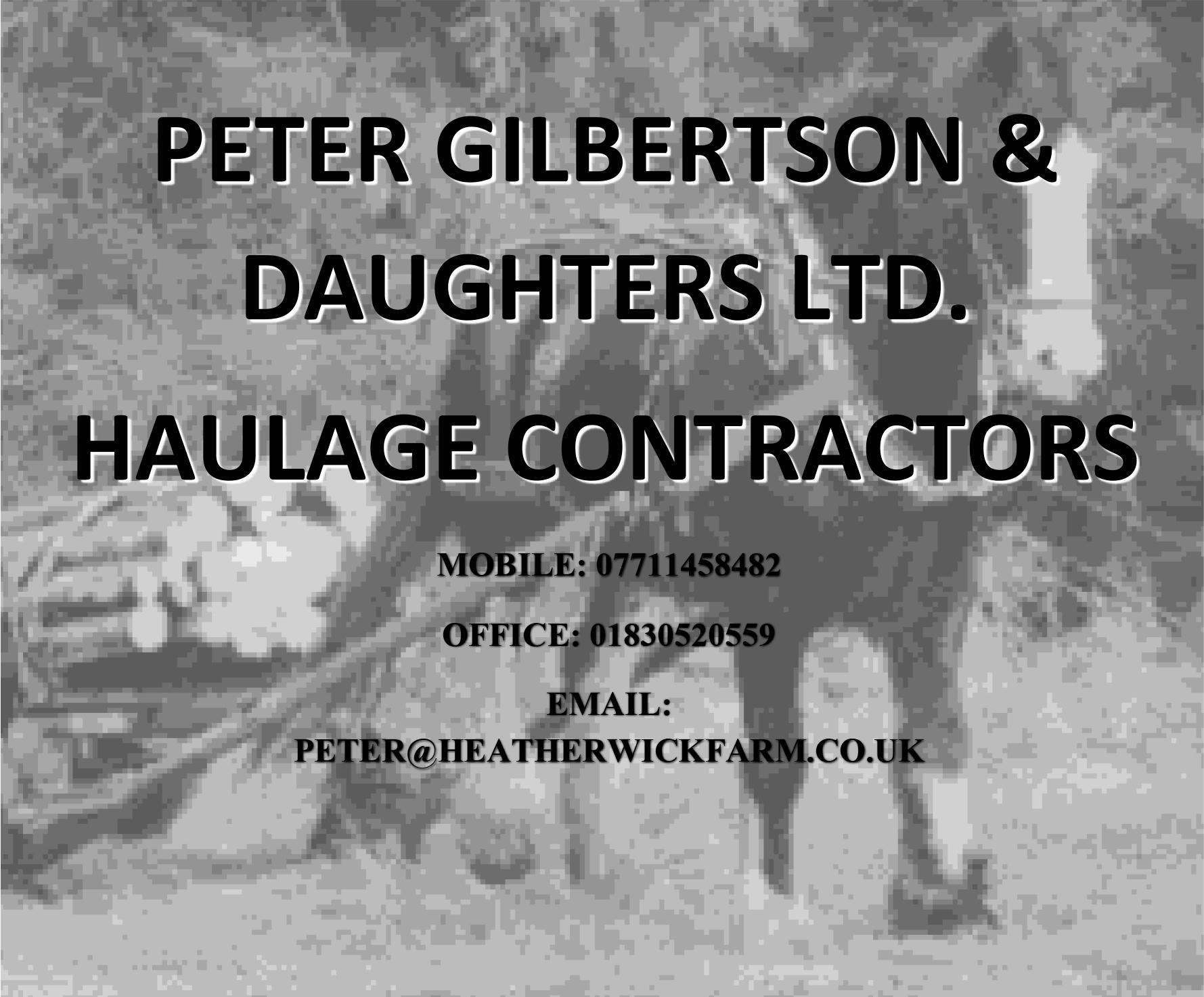 Peter Gilbertson Haulage WEB